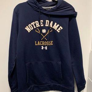 Notre Dame Under Armour Lacrosse Hoodie/Sweatshirt